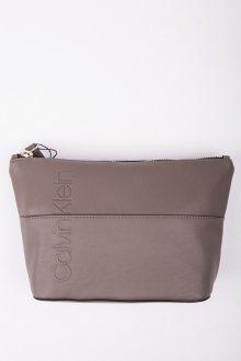 Calvin Klein šedá kosmetická taška Dual Carry All