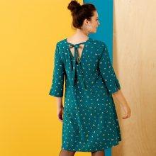 Šaty v rozšířeném střihu zelená 44