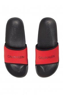 Calvin Klein červené pantofle Slide Lychee - 35/36