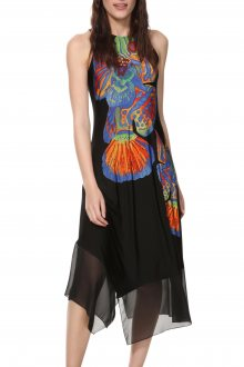 Desigual černé letní šaty Vest Cristin - XS