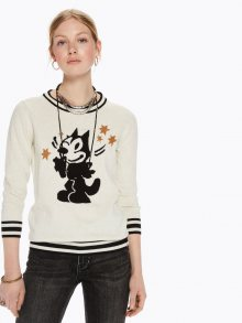 Scotch&Soda béžový svetr Intarsia Pullover Felix the Cat - XL