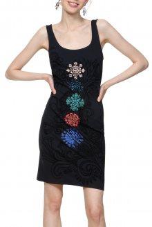 Desigual temně modré šaty Vest Coque s mandalami - M