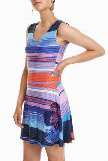 Desigual barevné šaty Vest Violeta - XS