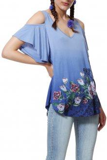 Desigual modré dámské tričko TS Berth - S