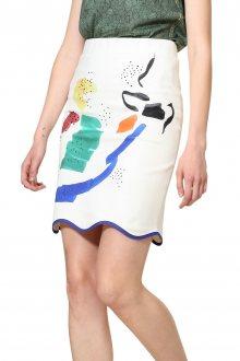 Desigual smetanová sukně Fal Gina - S