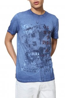 Desigual modré pánské tričko TS Eckard - M