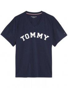 Tommy Hilfiger tmavě modré oversize tričko VN Tee SS Print s logem - XS