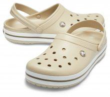 Crocs béžové unisex pantofle Crocband Cobblestone/Walnut - 38/39