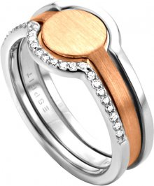 Esprit Stříbrný bicolor prsten 2v1 Fuse ESRG003012 56 mm