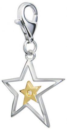 Hot Diamonds Přívěsek hvězda s diamantem Love Luck Happiness DT023
