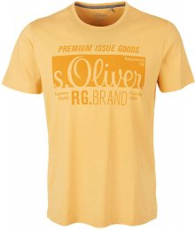 s.Oliver Pánské triko 03.899.32.5206.1425 Yellow Friend M