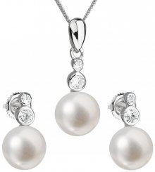 Evolution Group Souprava stříbrných šperků s pravými perlami Pavona 29035.1
