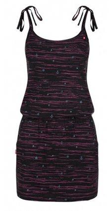 LOAP Dámské šaty Bama Tap Shoe Black Allover CLW1938-V21VY XS