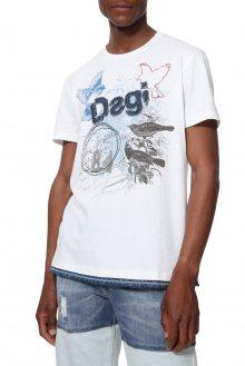 Desigual bílé pánské tričko TS Conrad - M