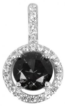 Silver Cat Stříbrný přívěsek s krystaly SC164