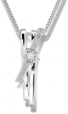 Modesi Překrásný stříbrný náhrdelník M41098 (řetízek, přívěsek)
