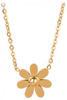 Troli Pozlacený náhrdelník s kytičkou