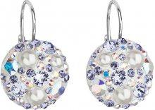 Evolution Group Stříbrné náušnice s krystaly 31183.9 tanzanite AB