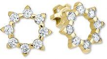 Brilio Zlaté sluníčkové náušnice s krystaly 239 001 00887 - 1,90 g