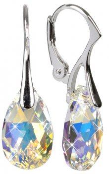 Troli Náušnice Pear 16 mm Crystal AB