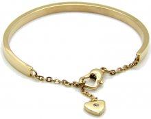 Troli Romantický pozlacený náramek se srdcem KBS-151-GOLD