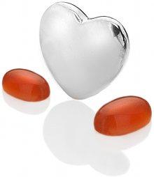 Hot Diamonds Element srdce s karneoly Anais Červenec EX126
