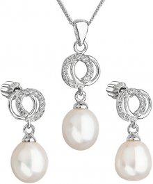 Evolution Group Překrásná perličková sada se zirkony Pavona 29003.1 bílá