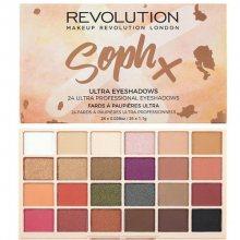 Revolution Paletka 24 očních stínů SophX (Eyeshadow Palette) 26,4 g