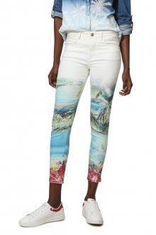 Desigual barevné kalhoty Pant Juno - 36