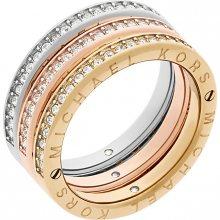 Michael Kors Sada tří vrstvených prstenů Tricolor MKJ6388998 58 mm