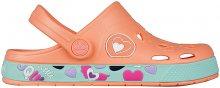 Coqui Dětské pantofle Froggy Coral Hearts 8802-402-6044 26-27