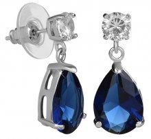 Troli Jiskřivé náušnice s modrými krystaly