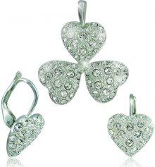 MHM Souprava šperků Srdíčka Krystal 34108 (náušnice, řetízek, přívěsek)