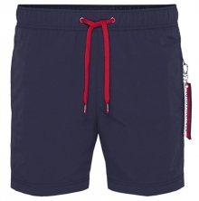 Tommy Hilfiger Plavkové kraťasy Slim Fit Medium Drawstring UM0UM01079-416 Navy Blazer L