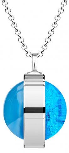 Preciosa Unikátní stříbrný náhrdelník Singularis Akva 6116 67 (řetízek, přívěsek)