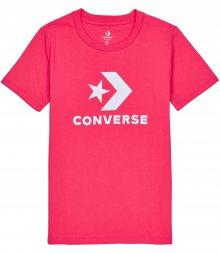 Converse růžové tričko Star Chevron Core s bílým logem - XS