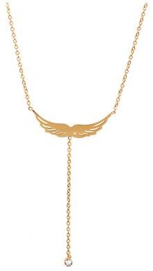 Troli Pozlacený náhrdelník andělské křídlo 75 angel gold TO1885