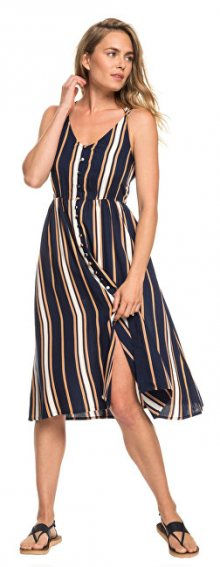 Roxy Dámské šaty Sunset Beauty Dress Blue Macy Stripe ERJWD03313-BTK4 S