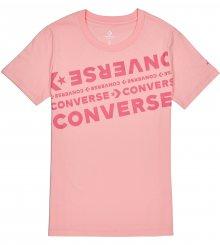 Converse lososové dámské tričko s nápisy  - XS