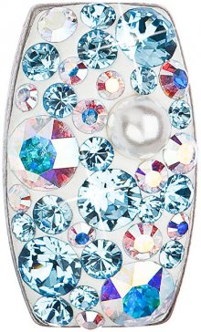 Evolution Group Stříbrný přívěsek s krystaly 34194.9 aqua AB