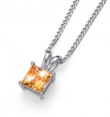 Oliver Weber Stříbrný náhrdelník s krystalem Catch 61142 TOP