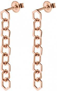 Cluse Stříbrné visací náušnice složené z hexagonů CLJ50009