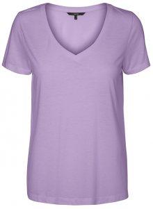 Vero Moda Dámské triko Spicy V-neck Ss Top Color Lavendula XS