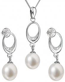Evolution Group Souprava stříbrných šperků s pravými perlami Pavona 29040.1