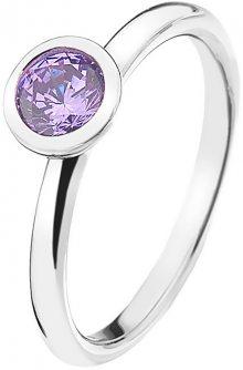 Hot Diamonds Stříbrný prsten Emozioni Scintilla Lavender Calmness ER020 51 mm