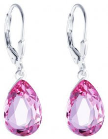 Preciosa Stříbrné náušnice s krystalem Iris 6079 69
