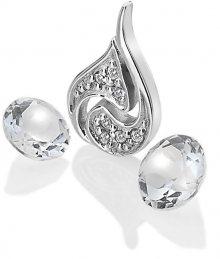 Hot Diamonds Stříbrný element Vzduch s čirými topazy Anais AC103