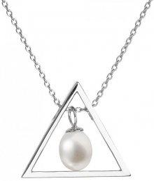 Evolution Group Stříbrný náhrdelník s pravou perlou Pavona 22024.1
