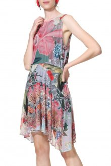 Desigual barevné šaty Vest Lucille - M
