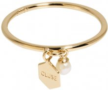 Cluse Stříbrný prsten s hexagonem a perličkou CLJ41007 52 mm
